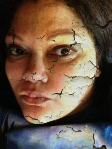 Cracked Up Glass Face